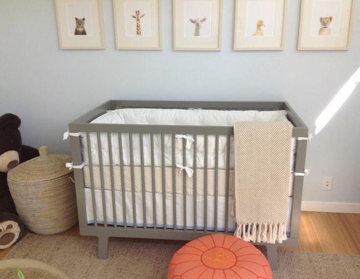 Source Amanda Teal Design Gray Blue Nursery With Pop Of Tangerine Baby