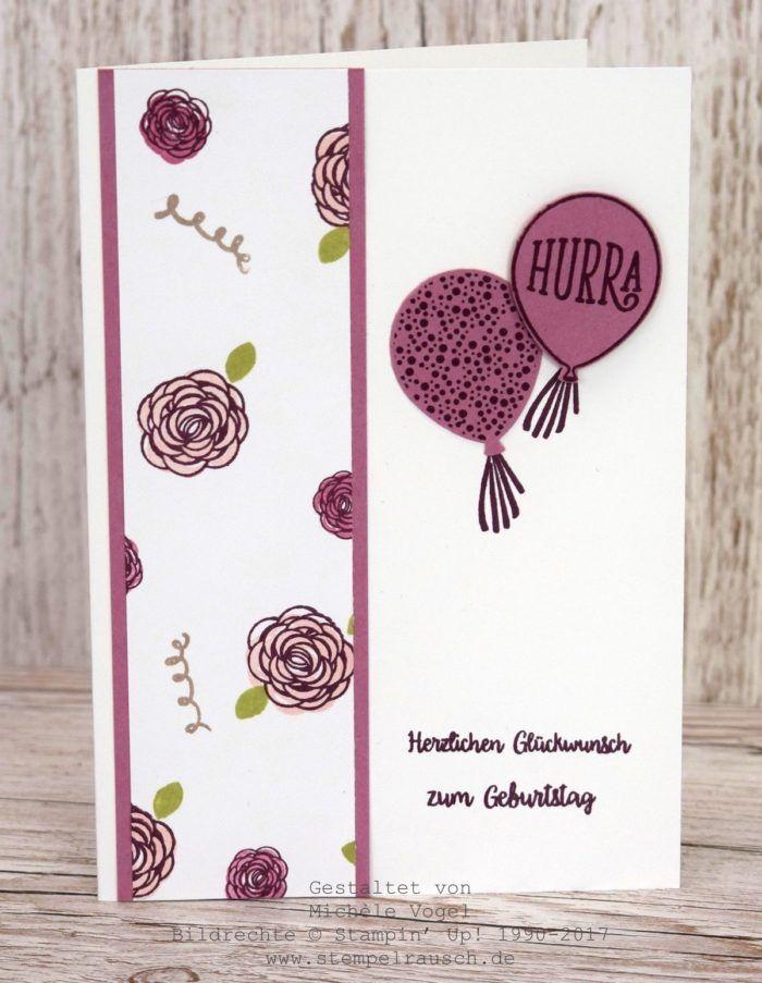 Stampin' Up! Geburtstagskarten aus einem One Sheet Wonder DIN A4 mit dem Stempelset Alles Liebe, Geburtstagskind! www.stempelrausch.de