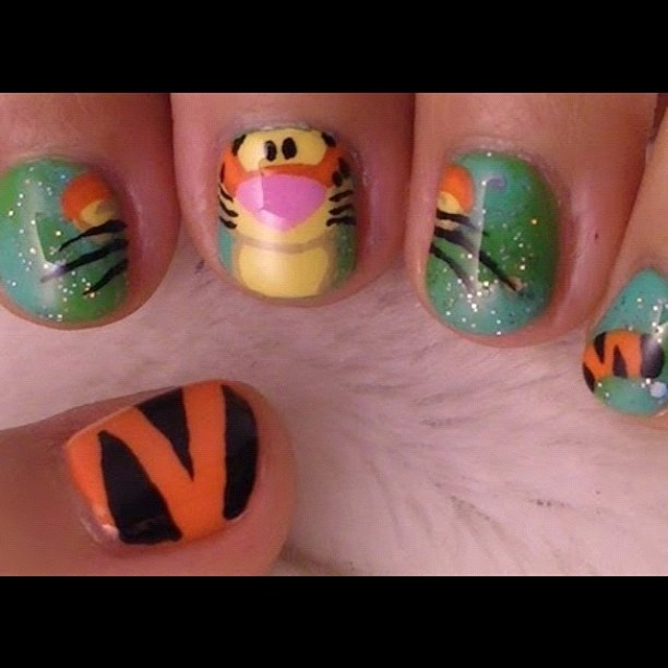 Tigger Nails: 16 Best Images About I ♡ Tigger!! :)) On Pinterest