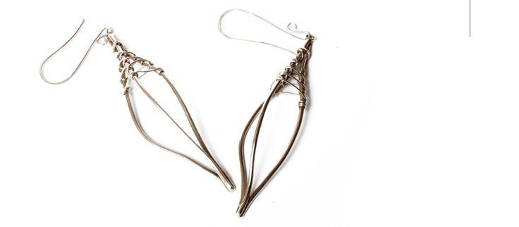 Nao. aros de alambre de plata 950