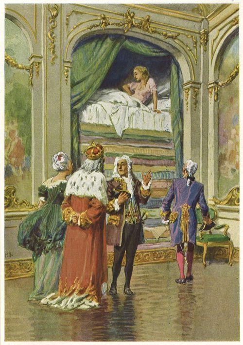 La princesa y el guisante, por Paul Hey