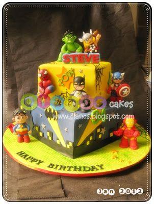 102 best superhero cakes images on Pinterest Superhero cake