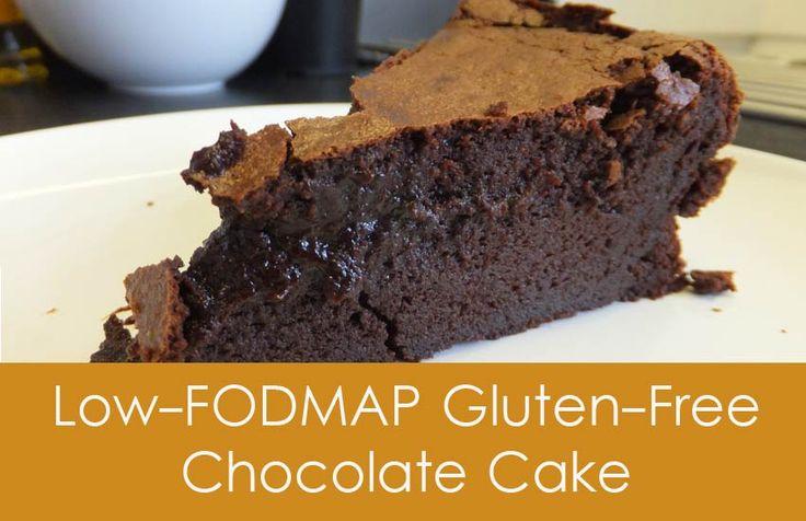 Low-FODMAP Flourless Chocolate Cake