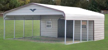 25 best ideas about metal storage sheds on pinterest Carport with storage room