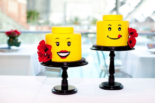 Decorate with oversized Lego pieces