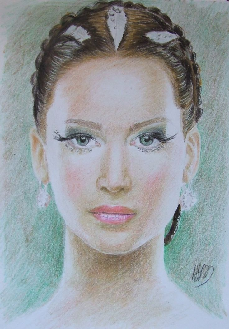 Katniss Everdeen A4 colour pencils