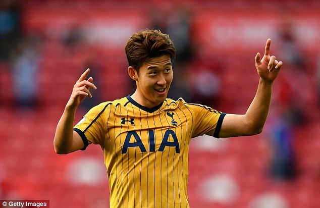 Son Heung-min scored twice in Tottenham's 2-1 victory over Middlesbrough on Saturday