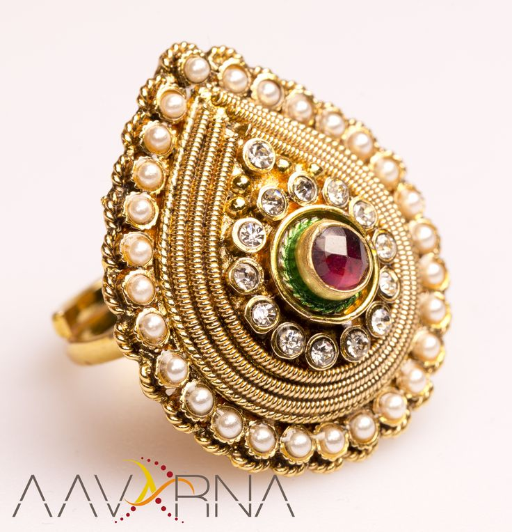 Exquisitely designed, these multicoloured #rings promise to please every eye that sets on it. Made from copper, it features a classy pattern and has an excellent finish as well.   Please message us for more details.   #indianbride #hindubride #bollywoodfashion #indianfashion #fashion #designinspiration #lookoftheday #ootd #asianbride #onestopweddingshop #bridalwear #traditional #stunning  #fashiontrend  #jewelry #bollywood #indianfashion #shaadi #indianwedding #aavarna #fashiontrend