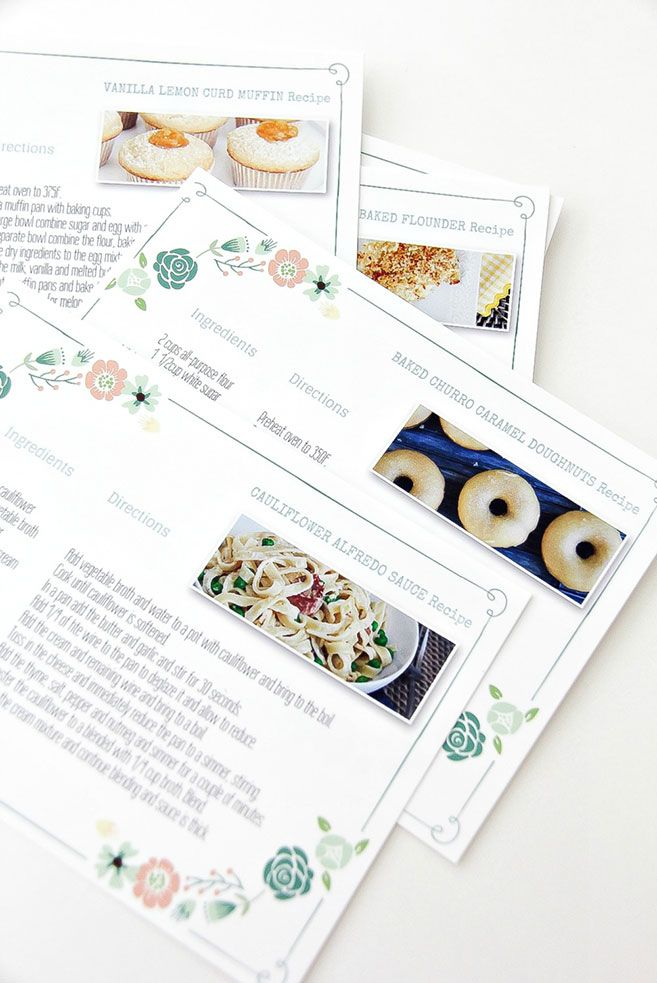 DIY Family Recipe Book and how to make recipe cards for family recipes.