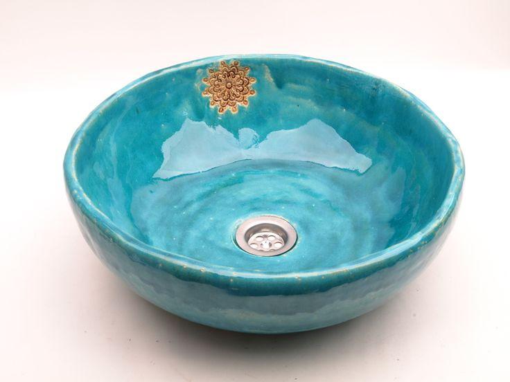 umywalka turkus i koronka w dekornia na DaWanda.com