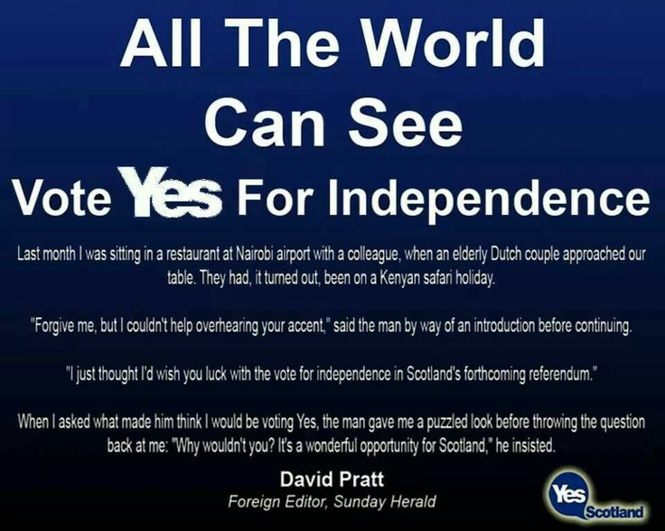 Scottish Independence Referendum - Scotland YES! 2014