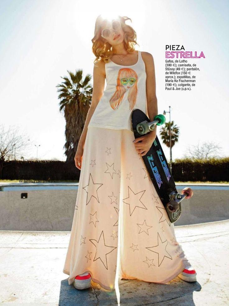"Editorial #Skateboard Fashion Aver Report | Glamour Spain August 2012, ""Brilla Al Sol"""