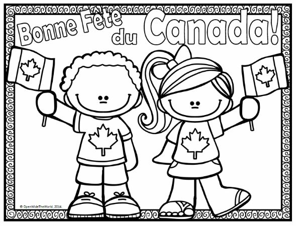 Canada Day coloring page FREEBIE, from Open Wide the World
