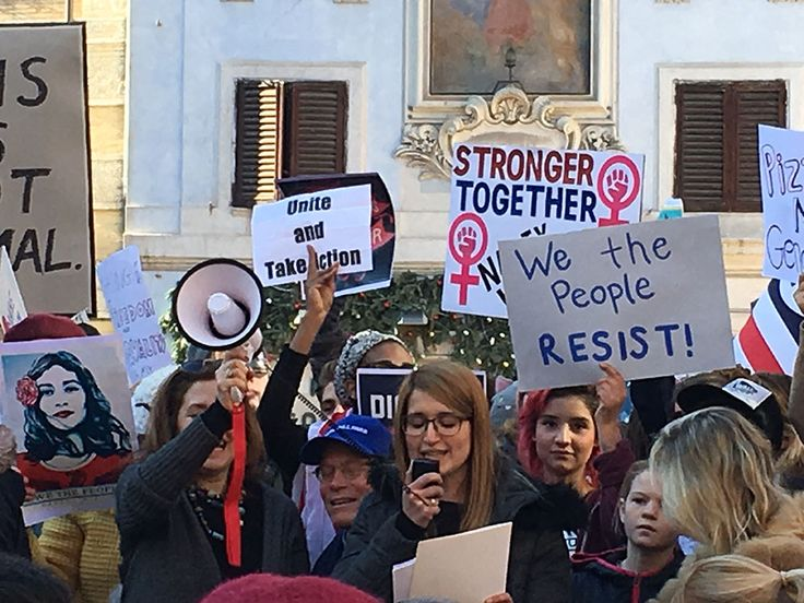 #JCURome alumna Marianna Occhiuto speaking at the Womens March in Rome!