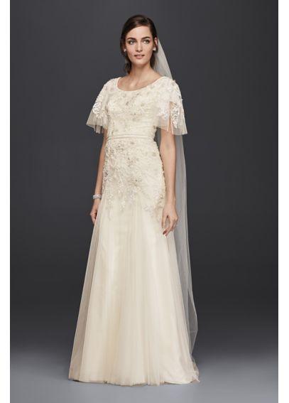 Melissa Sweet Petite A-Line Modest Wedding Dress 7SLMS251111