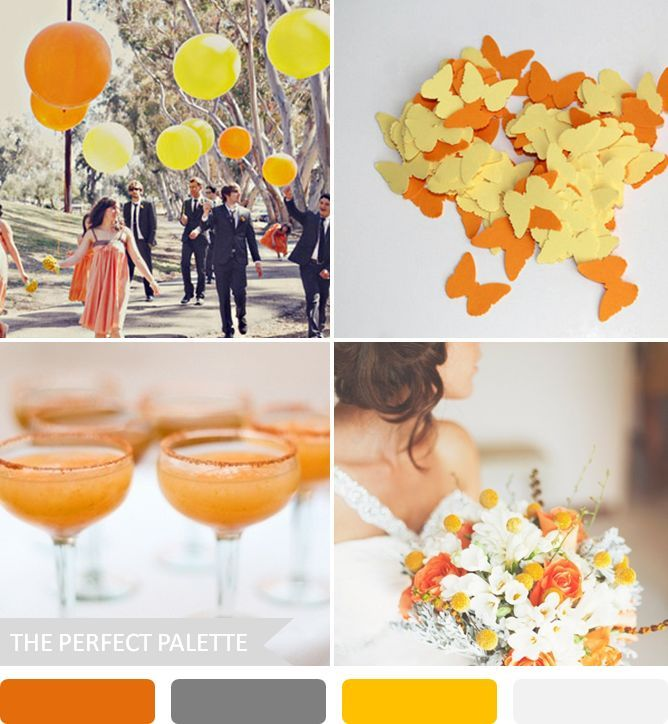 10 wedding color palettes that aren't boring! http://www.theperfectpalette.com/2013/09/10-wedding-color-palettes-that-arent.html