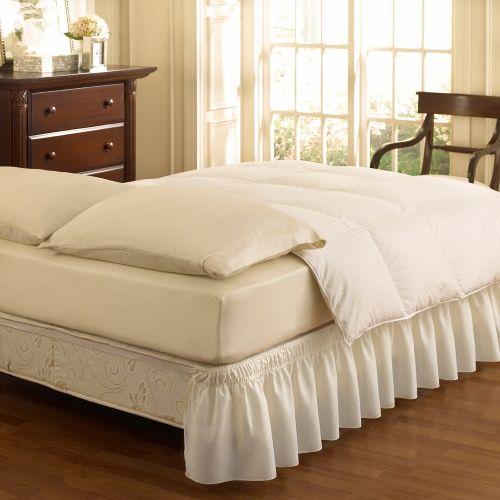 Ellery Holdings EasyFit Wrap Around Solid Ruffled Bed Skirt - Bed Skirts at Hayneedle