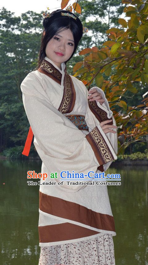 190a8eec0 Ancient Chinese Han Dynasty Clothing and Hair Accessories Complete Set for  Women