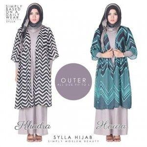 Baju Atasan Wanita Outer Haura dan Kadra http://distromuslimah.net/baju-atasan-wanita-outer-haura-dan-kadra/
