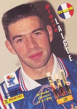 1998 Panini World Cup #29 Pierre Laigle  Back