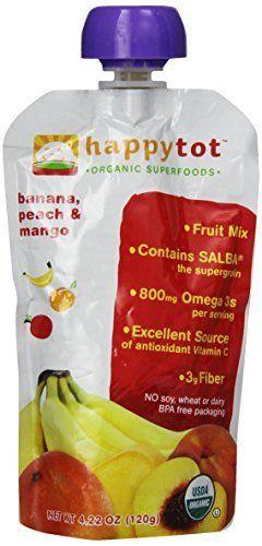Happy Tot, Banana Peach Mango, 4.22 oz