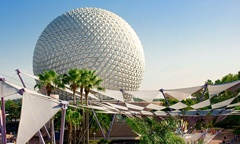 Spend a day at Epcot theme park, One of Walt Disney World's four major theme parks in Orlando.