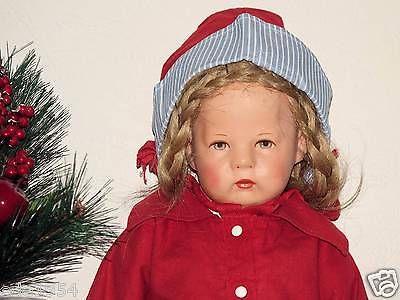 Alte Käthe Kruse Puppe 1H aus den 40iger Jahren, Stoffkopf