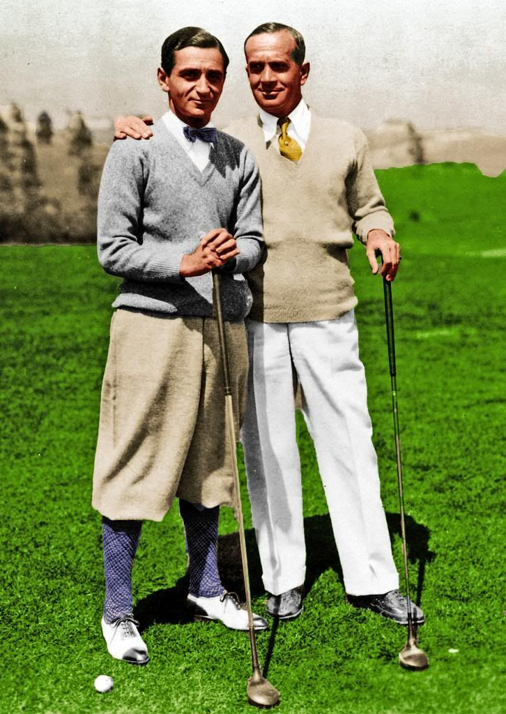 "Irving Berlin and Al Jolson golfing 1929 Cool Irving Berlin fact: Refusing to make money off his deep-seated patriotism, Berlin donated all the royalties from ""God Bless America"" (just another little ditty he penned) to the Boy Scouts, Girl Scouts and Campfire Girls"