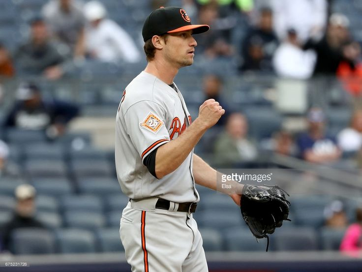Logan Verrett #41 of the Baltimore Orioles celebrates the 7-4 win over the New York Yankees in 11 innings on April 30, 2017 at Yankee Stadium in the Bronx borough of New York City.