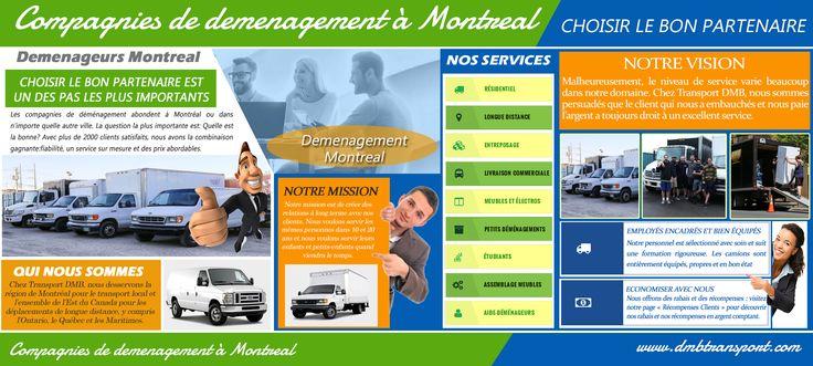 Cliquez sur ce site http://www.apsense.com/brand/dmbtransport/ pour plus d'informations sur Demenageurs Montreal. Si vous avez déplacé avant, vous savez quel processus intensif fastidieux et labor se déplaçant peuvent rapidement devenir. Choses doivent être organisées, en boîte et transportés et habituellement dans une petite fenêtre de temps. Pour la plupart des gens est plus simple de trouver un Demenageurs Montreal pour faire de ce processus pour vous. Vous devez trouver un déménageur.