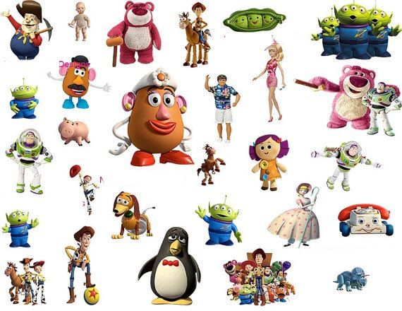 60 Toy Story Character PNG Images 300 dpi Scrapbooking