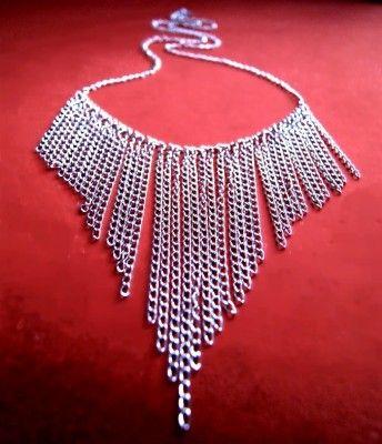 Długi Naszyjnik z Łańcuszków #necklace #naszyjnik #chain #lancuszek