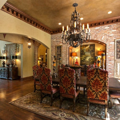 Decorative Crown Molding Tuscan Dining RoomsDining