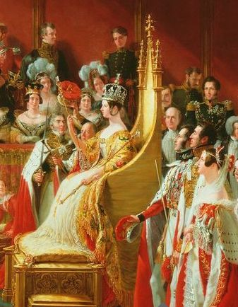 CORONATION PORTRAIT of Queen Victoria. She was crowned in 1838 at age 19.