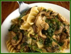 Mushroom Stroganoff (The Engine 2 Diet by Rip Esselstyn)...I am planning to use zucchini noodles to make gluten free