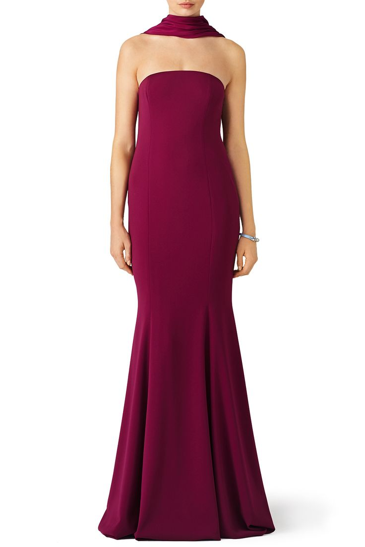 Plum Brooklyn Gown by Jay Godfrey for $90 | Rent the Runway