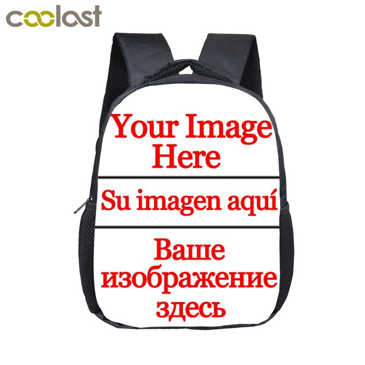 12 inch Customize Your Logo Name Image Toddlers Backpack Cartoon Children School Bags Baby Kindergarten Backpack Kids Gift Bags