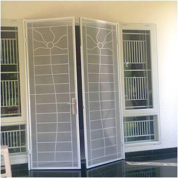 Model pintu bahan besi pintu rumah 2 pintu terbaru