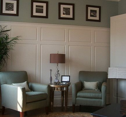 Very tall raised panel wainscoting most wainscoting is for Living room wainscoting ideas