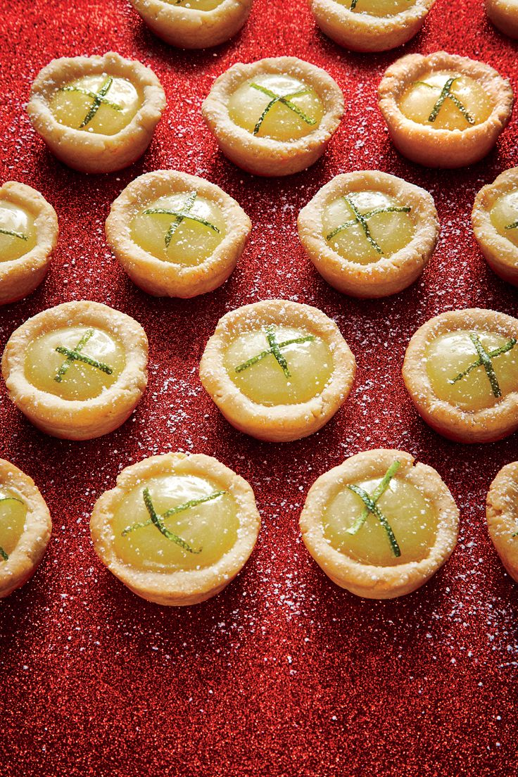 Key Lime Tassies from Southern Living magazine                                                                                                                                                                                 More