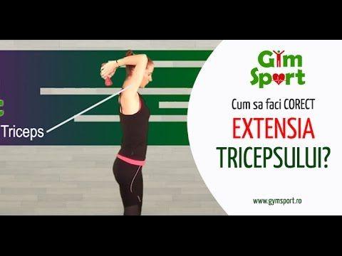 Cum sa faci extensia tricepsului corect?