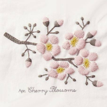 桜 / cherry blossoms / needlework
