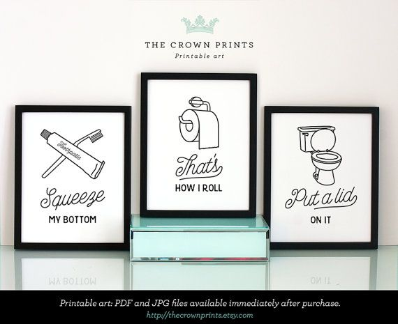 Bathroom Printable On Pinterest Bathroom Wall Decor White Prints