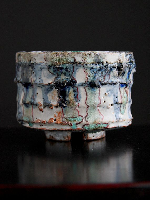 Shino Cup RosslareGlasses Combinations, Rice Bowls, Iron Oxidized, Rosslar Rice, Cobalt Blue, Cups Bowls, Clay Pulled, Clay Cups, Ceramics Inspiration