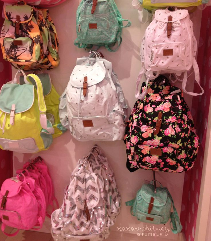 Cute pink victoria secret book bags. I love the ones in the middle column.