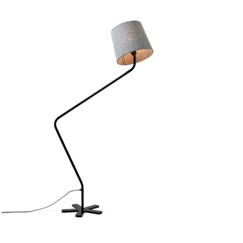Groggy Floor Lamp - Northern Lighting at Funktionalley.com. GROGGY is a small floor lamp with a big personality. Created by Tom Stepp as part of his Blueman collection, the body and shade revolve making it easy to direct the light. Ideally suited for use next to a sofa or chair the oblique shape allows plenty of room for the arm.