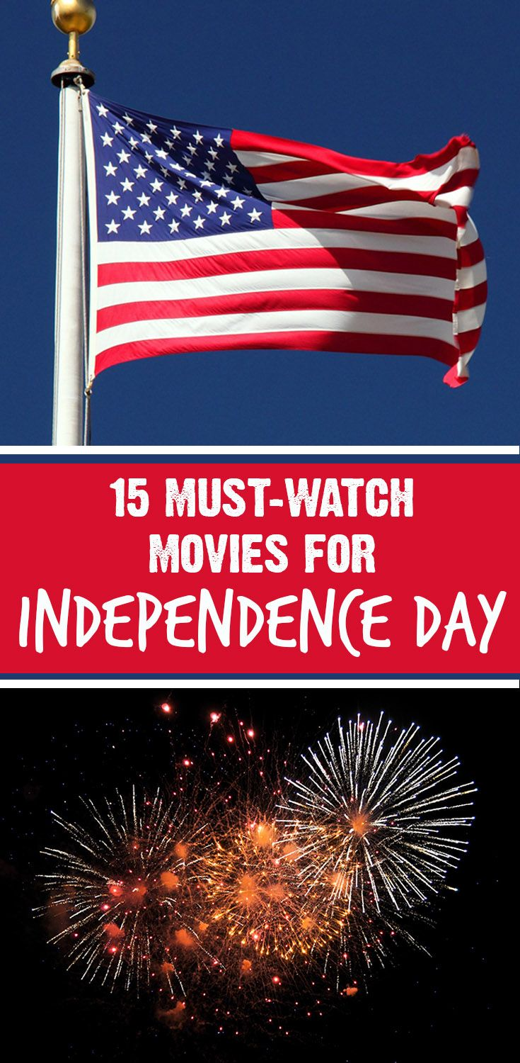 Mom with a PREP | 15 Must-Watch Movies for Independence Day. Whether you're feeling patriotic, feelin' the red white and blue, or just want to celebrate liberty, here's the list for you for the 4th of July!