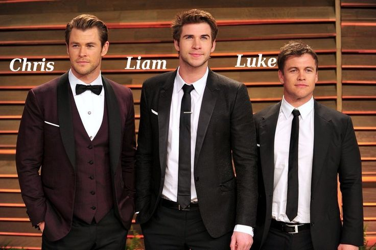 Famous siblings actors - Chris, Liam and Luke Hemsworth