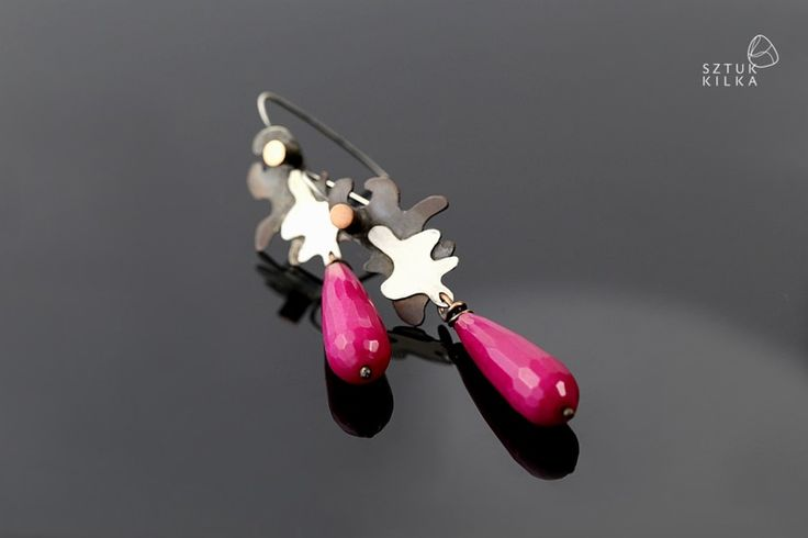 SPLASH! - Earrings pink from Sztuk_Kilka_Silver by DaWanda.com