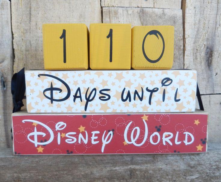 Countdown blocks, Disney World countdown,  Disneyland countdown, days until (weeks until) Disney World, Disneyland, Disney, Magic Kingdom by CaneySpringsCrafts on Etsy https://www.etsy.com/listing/499360152/countdown-blocks-disney-world-countdown